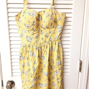 Yellow Boho tank dress M